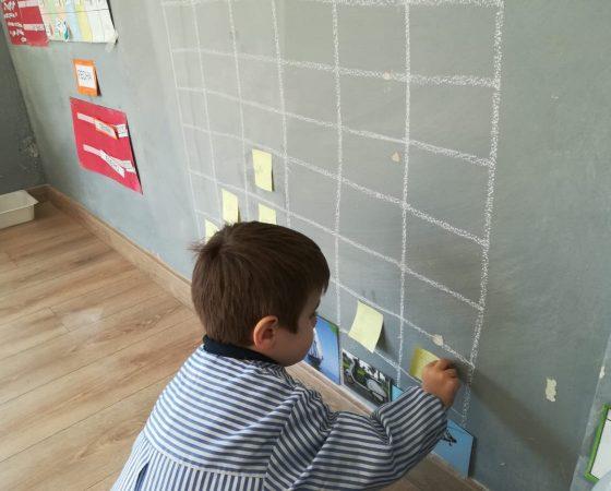 Els nens de P4 treballem les gràfiques