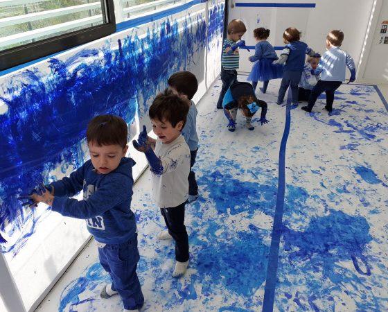 Festa del color blau a la classe dels pingüins!!