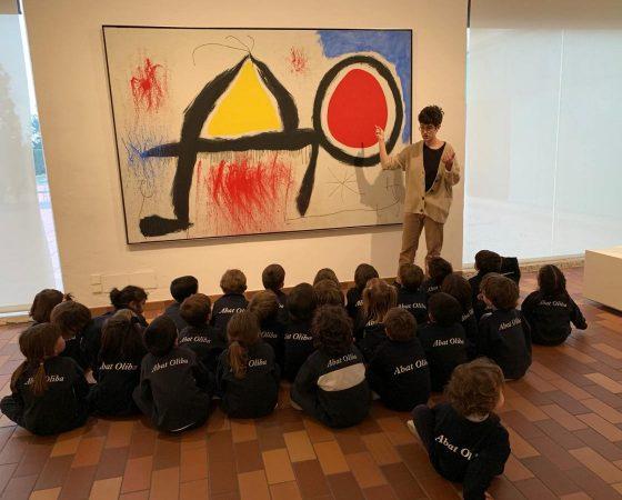 Els nens de P4 anem de visita a la Fundació Joan Miró