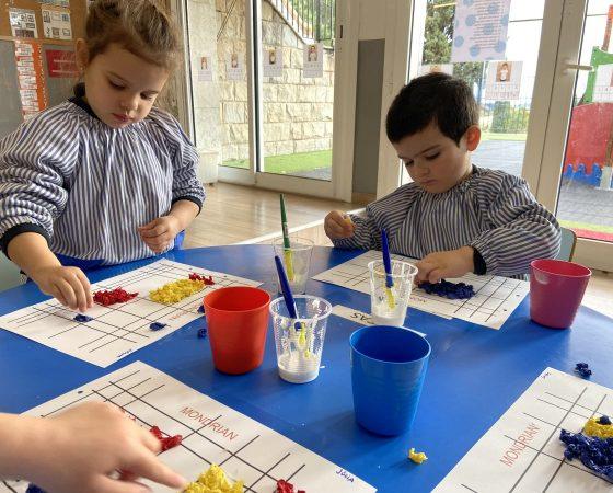 Els nens de P3 comencem a conèixer a Mondrian