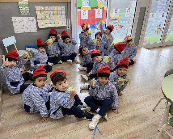 Els nens de P3 estem treballant el projecte d'en Patufet, el cos i els sentits